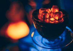 hookah hot coals for smoking in natural lighting